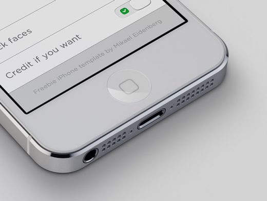 3D iPhone5 Mockup Template Smartlayers PSD Photoshop