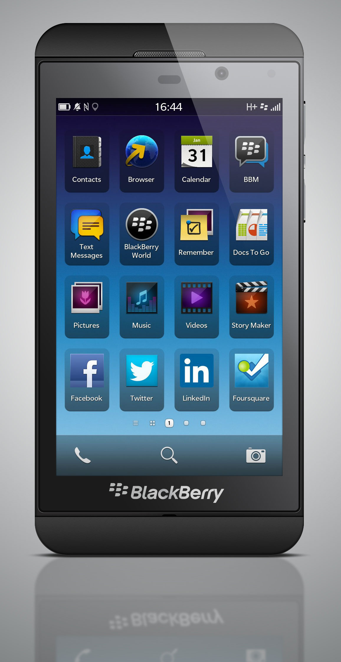 BlackBerry Z10 Mobile PSD Mockup