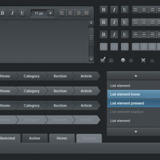 Web User Interface Dark Elements