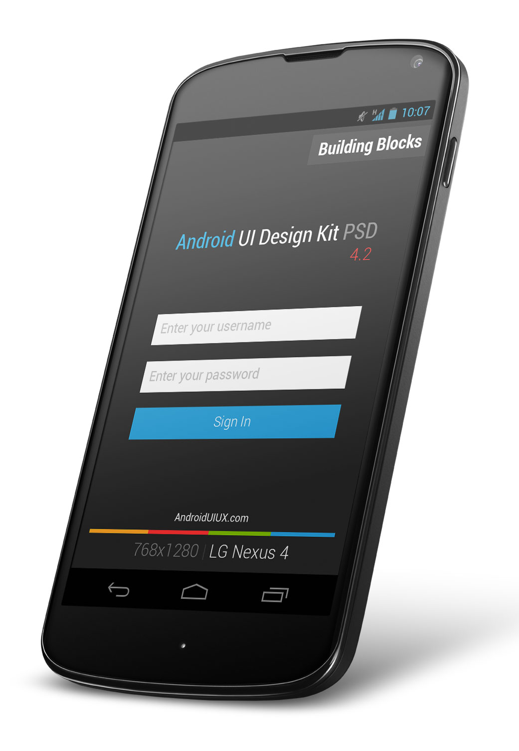 Nexus Screen Android UI Design Kit PSD Mockups - PSD Mockups