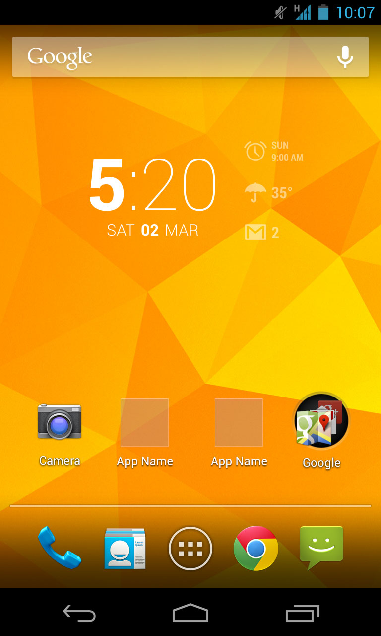 Android app home screen design Home design android
