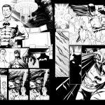 Batman Storyboard kline linework BW DC Comics