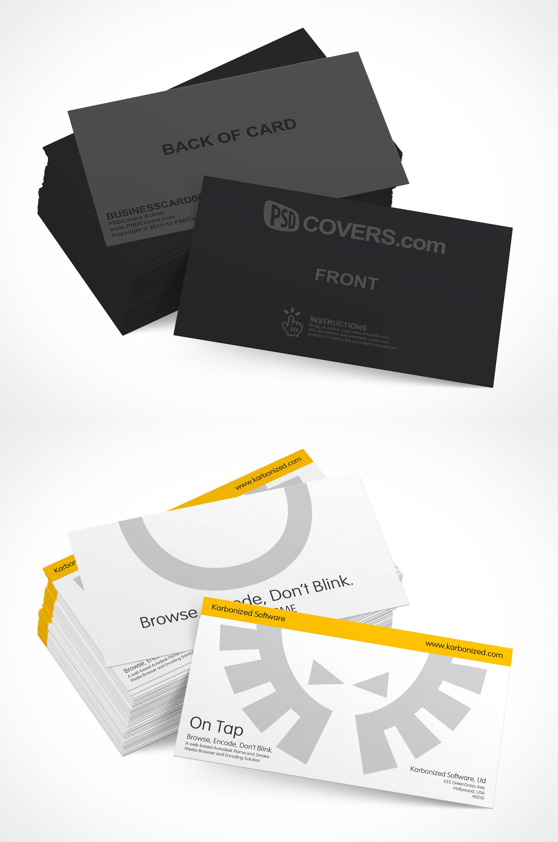 Presentation template psd choice image professional for Business card presentation template psd