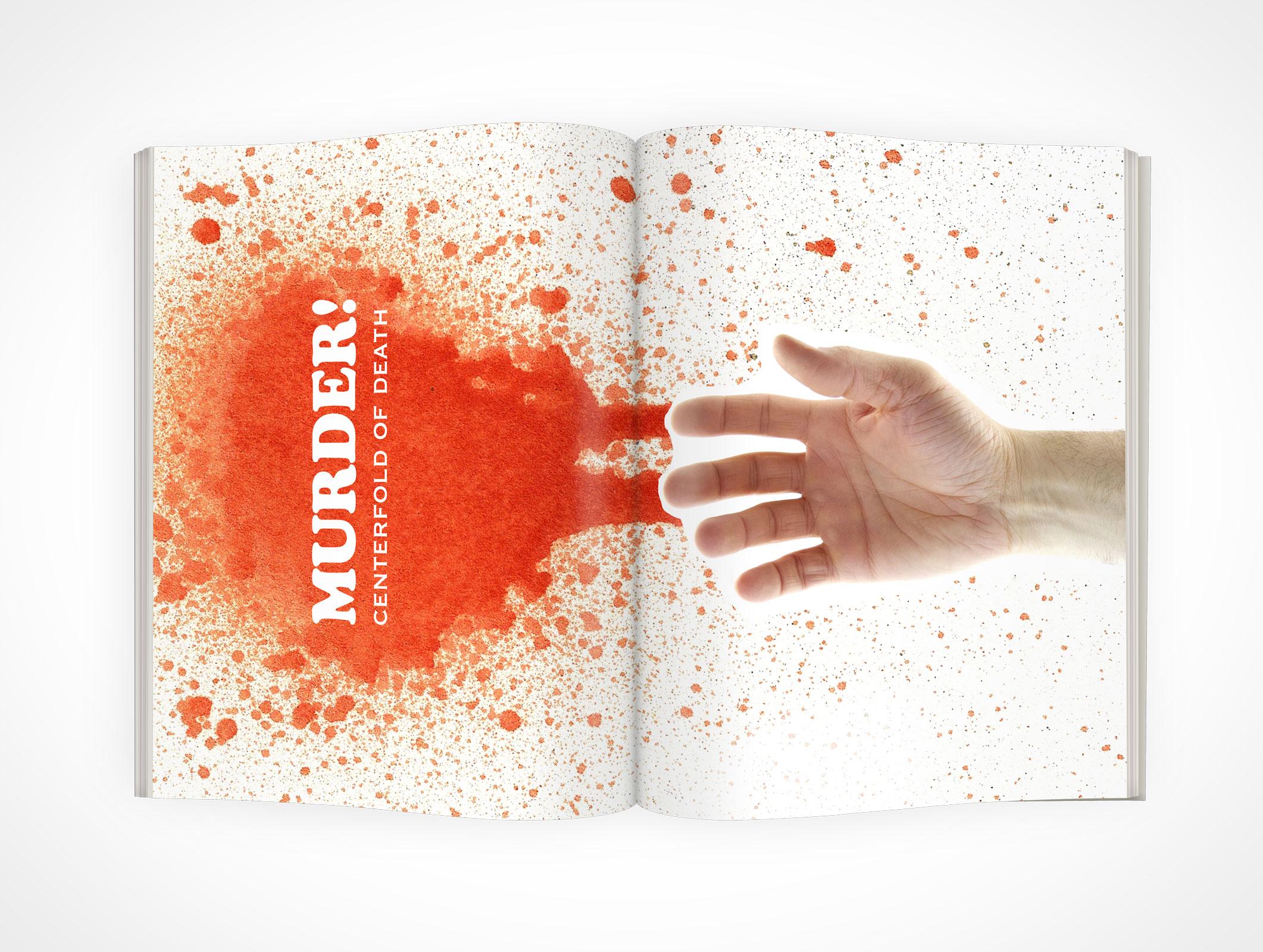 Centerfold Magazine PSD Mockup