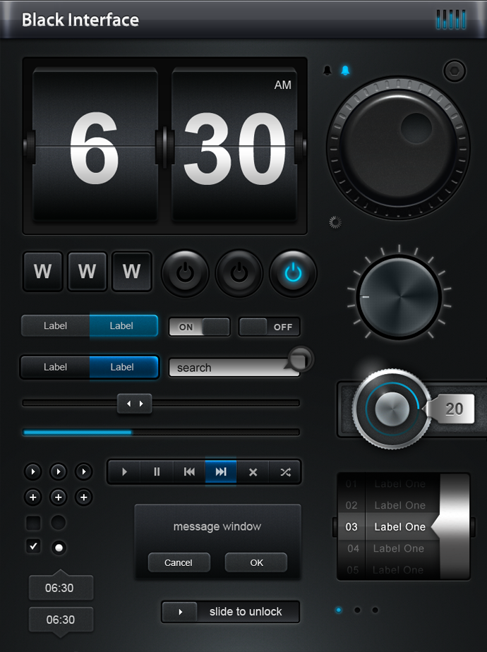 Knobs Dials Equalizers Sliders Toggles Psd Ui Psd Mockups