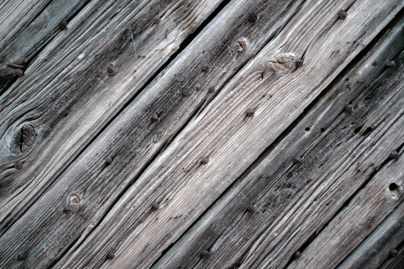 PSD Mockup Cracked Vintage Wood Plank Flooring Rusty Nails