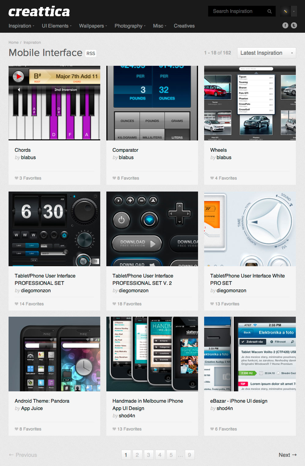 Mobile User Interfaces iOS Android