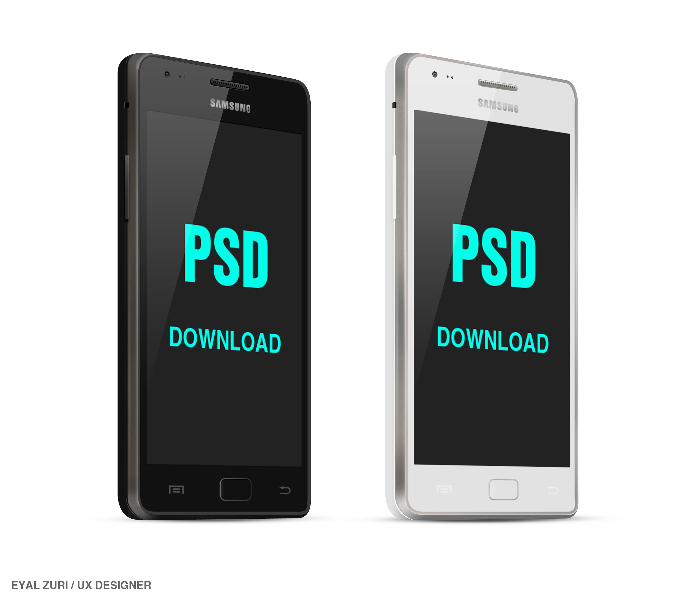 android galaxy smartphone psd mockup - Mockups For Android