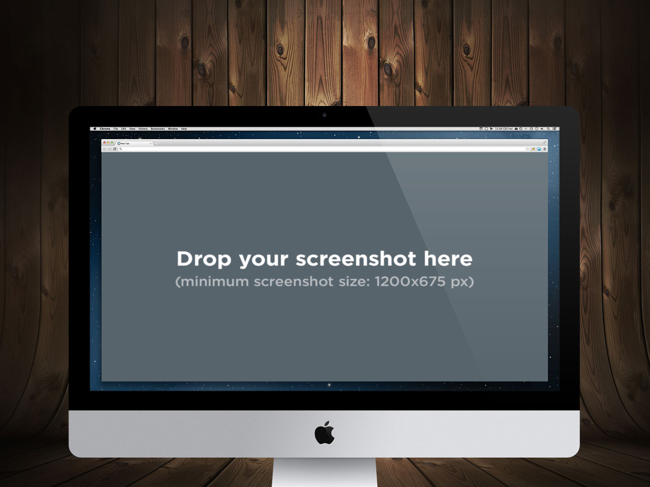 iMac 27in OSX Product Shot Screenshot Mockup