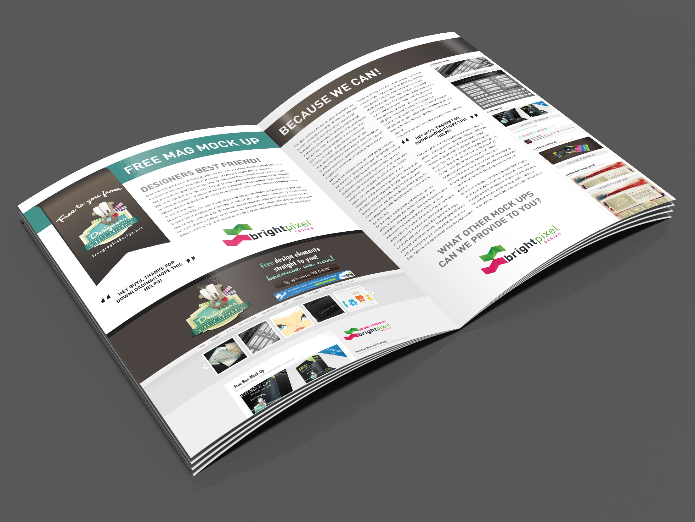 Magazine Spread Mockup Smartlayers