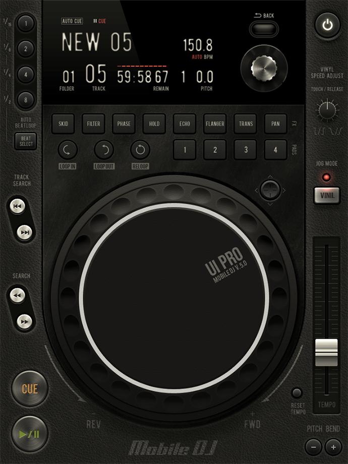 PSD Station Mixer UI Mockup
