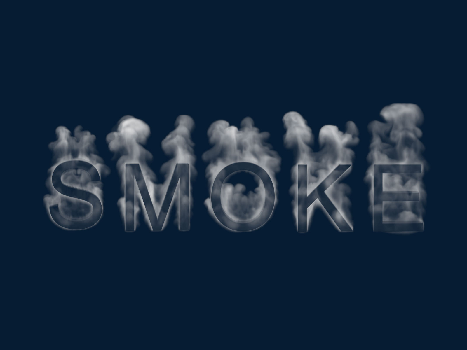 Photoshop PSD Smoke Alphabet Brushes ABR