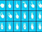 PSD Mobile Mockup Vector Hand Gestures