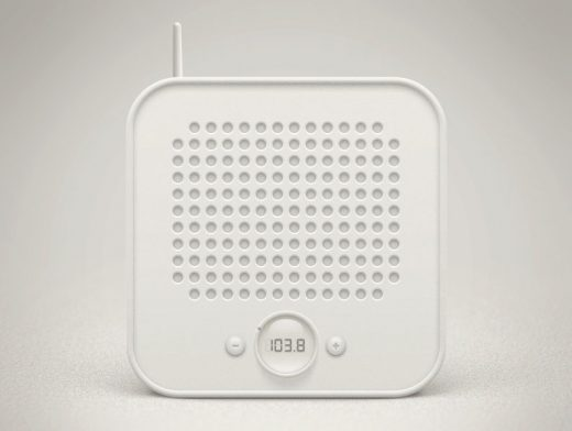 Radio Icon PSD Mockup