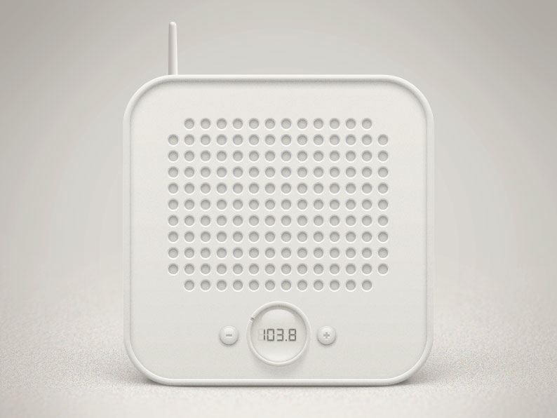 Radio Icon PSD Mockup
