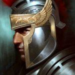 Roman Soldier Portrait Painting