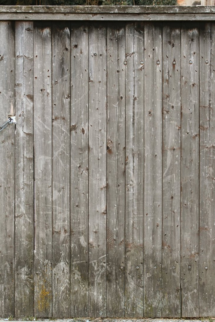 PSD Mockups Sun Bleached Pine Wood Fence
