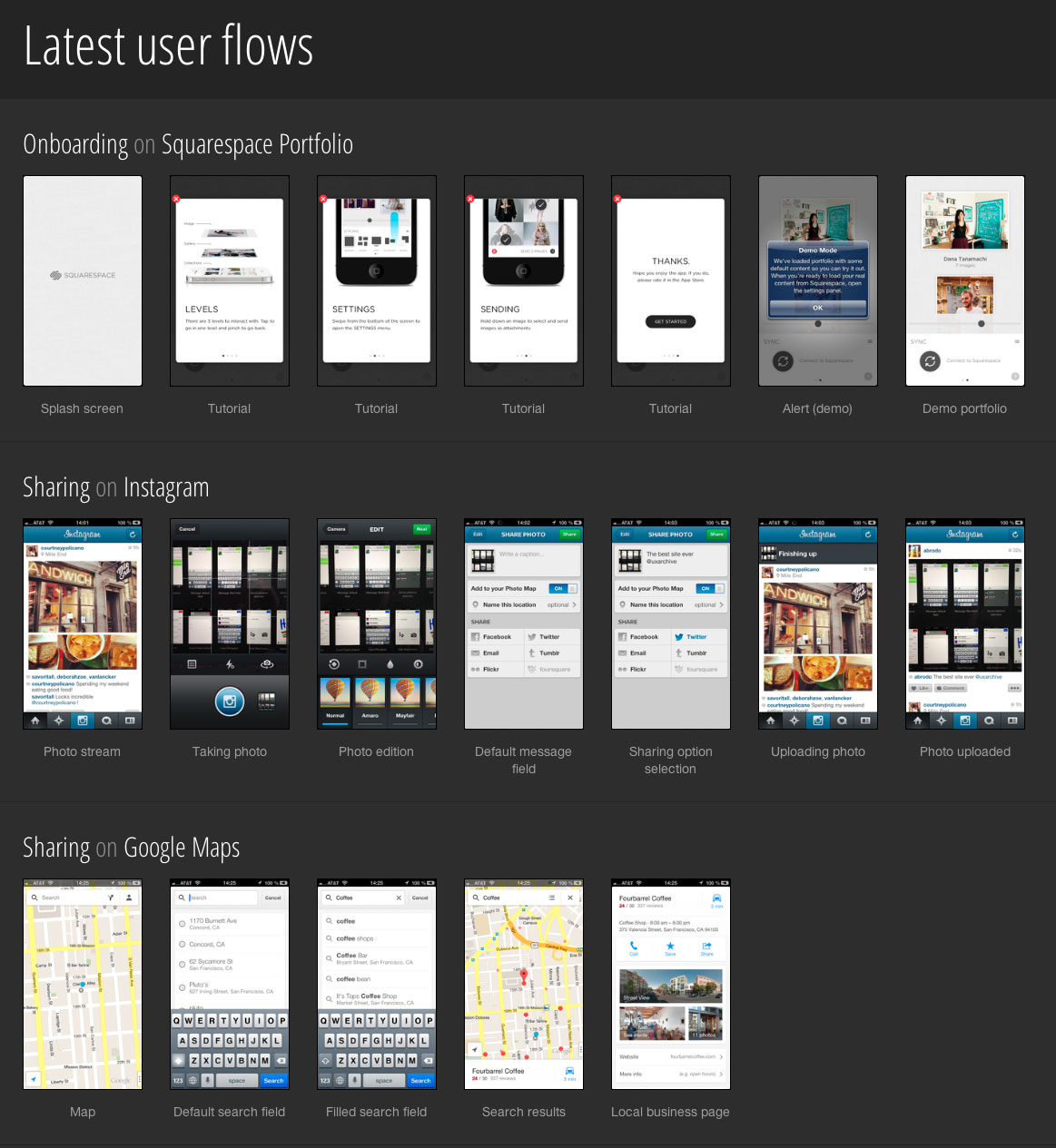 Collection Of Mobile Design Patterns For App Ideas