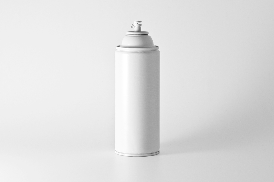 White Spray Can