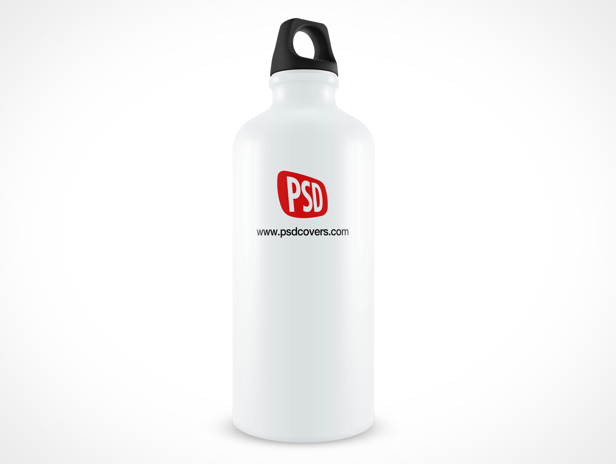 Mockup Aluminium Sports Water Bottle PSD Mockup Label