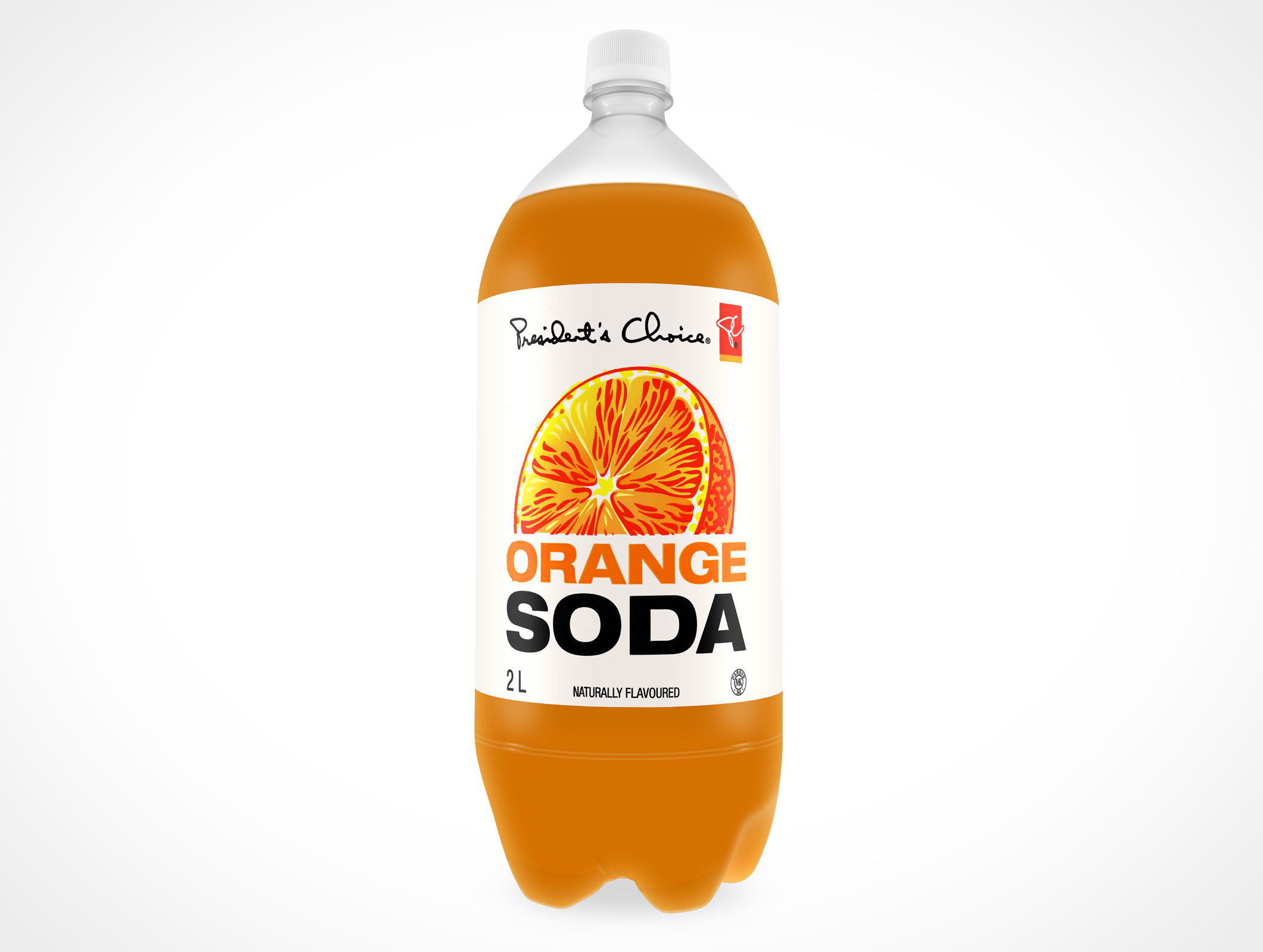 Mockup Soft Drink Plastic Soda Bottle PSD Mockup Label
