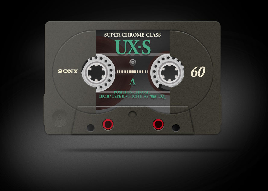 4 Track SONY Cassette Tape PSD Mockup Photoshop