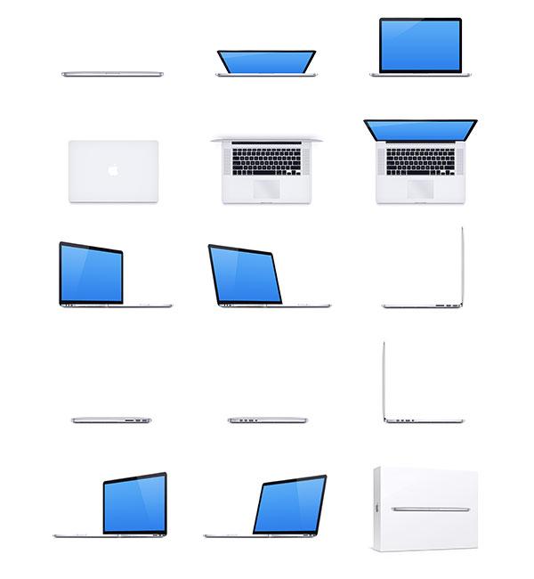 MacBook Pro Retina PSD Mockup