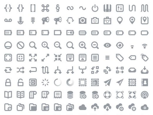 PSD Photoshop Icon Pack Web Font User Interface Web Design