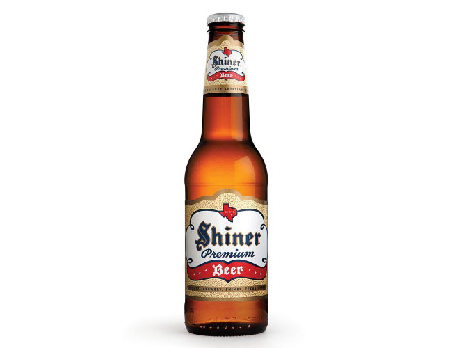 Shiner Beer Bottle Graphic Design Product Photography