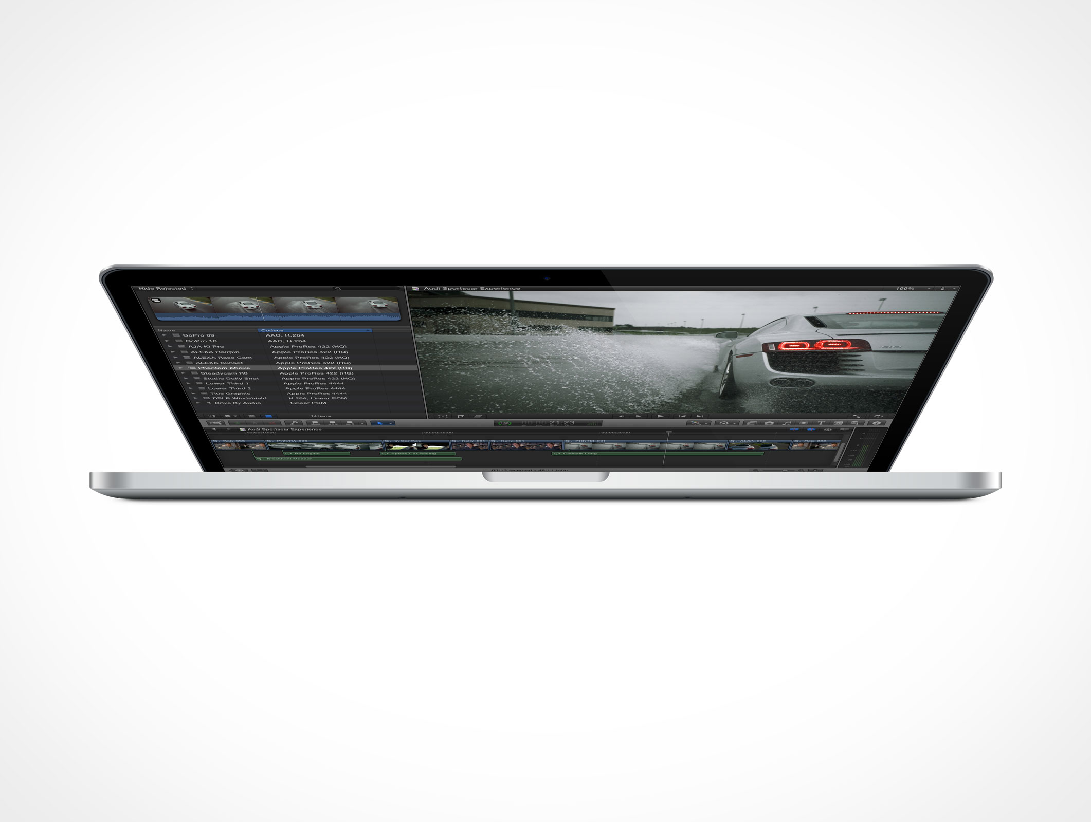 Apple MacBook Pro Retina 15 inch Thunderbolt Forward Front Photoshop PSD Mockup Action
