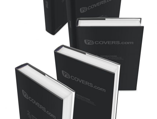 Hardcover eBooks Hardback Novel PSD Mockup Templates