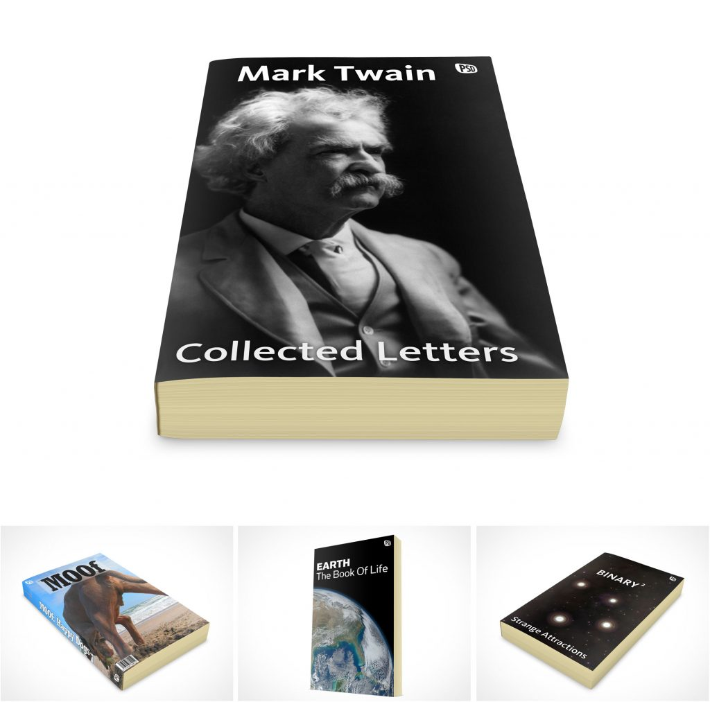 PSD Mockup Paperback Novel Templates