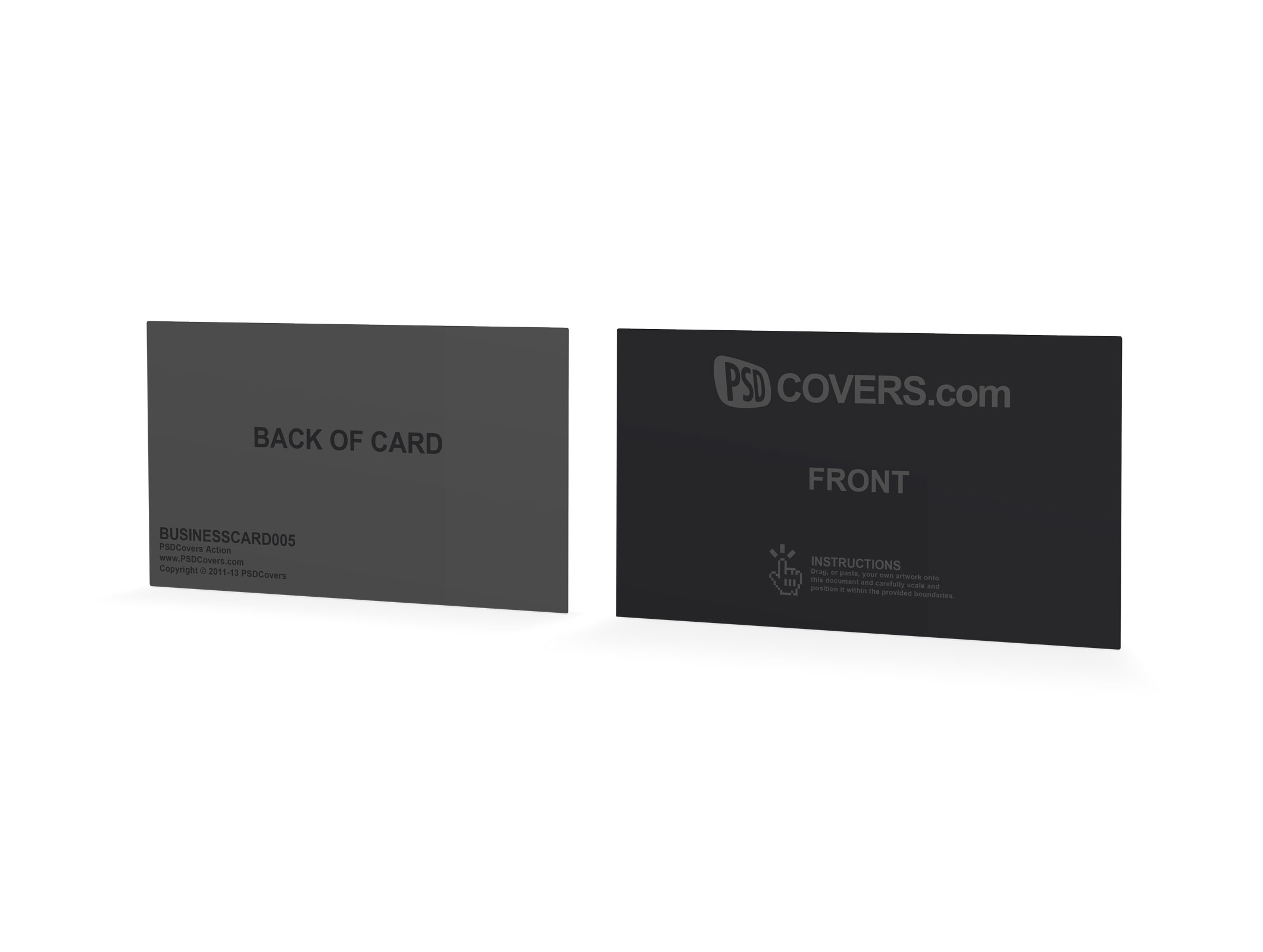 Psd Mockup Template Creative Business Cards Front Back