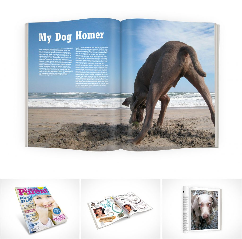 PSD Mockup Template Magazines