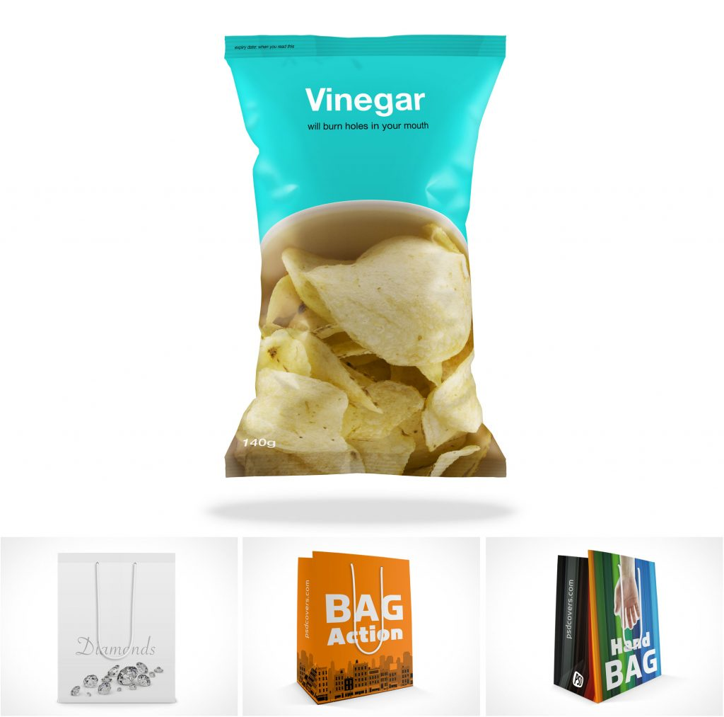 Chip Shopping Paper Bags