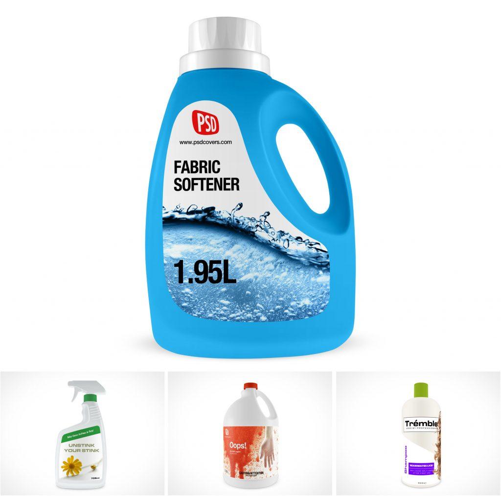PSD Mockups Detergent Shampoo Product Bottles