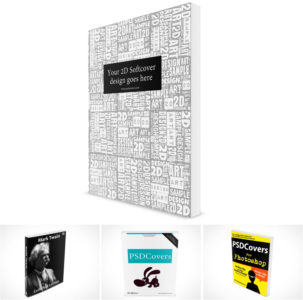 PSD Mockups Softcover Technical Manuals Graphic Novels
