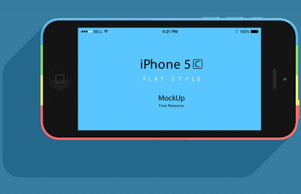 Pixeden iPhone 5C Front Views Vector PSD Mockups