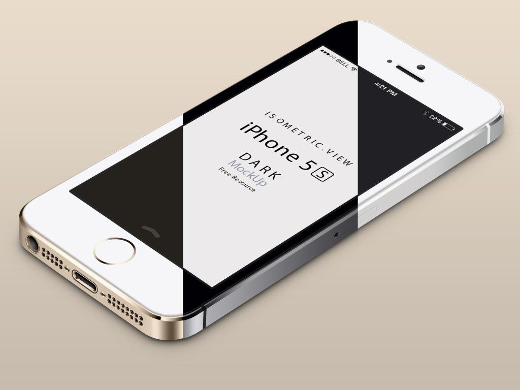 Pixeden iPhone 5S PSD Mockups