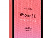 Pixeden iPhone 5C 3/4 PSD Mockup