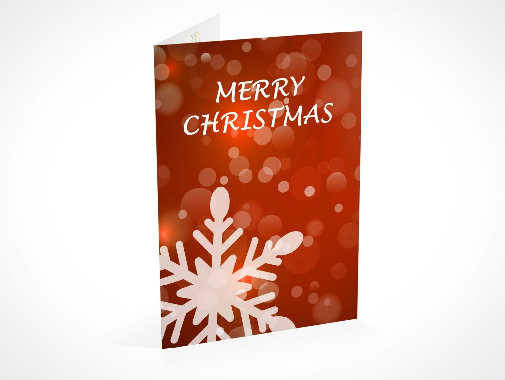 xMas Festive Holiday Seasons Greeting Birthday Card PSD Mockups
