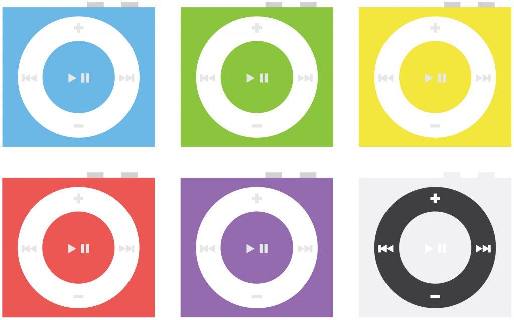 apple Shuffle Flat Icon Design Mockups