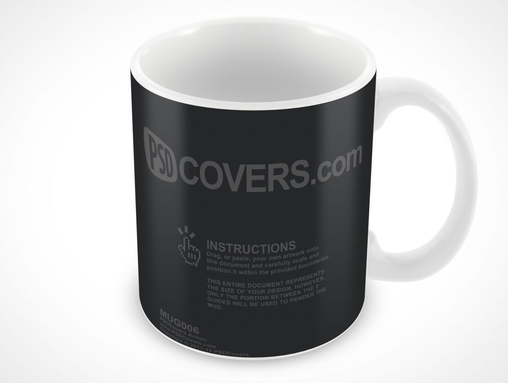 corporate branded ceramic mug psd mockups