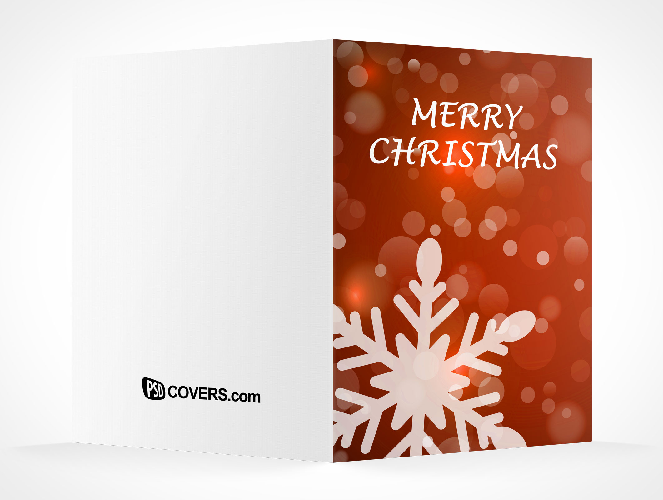 Blank Holiday Christmas Greeting Card Mockups Psd Mockups