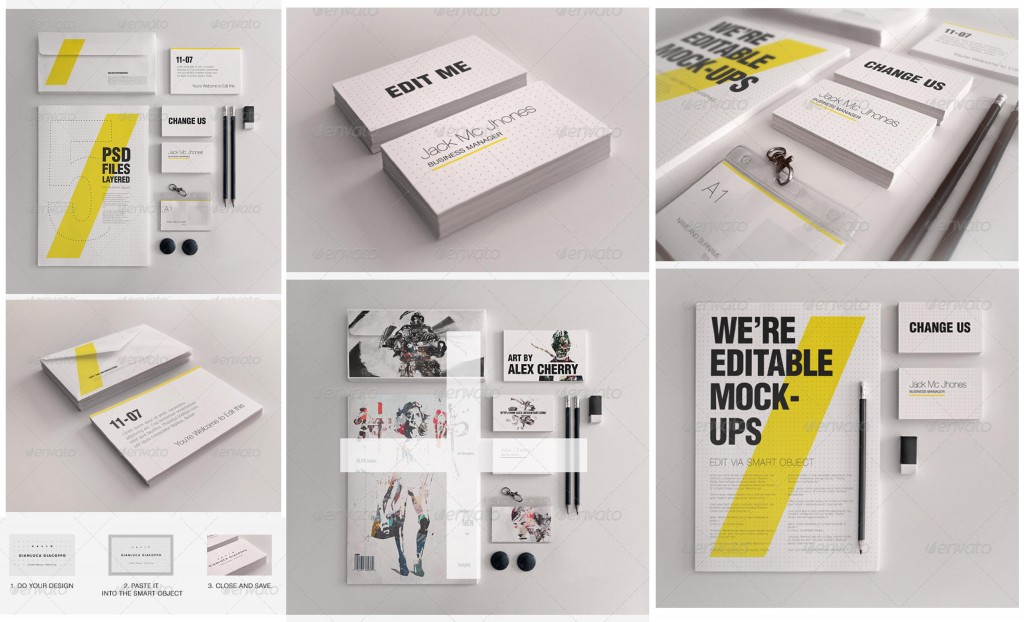 Corporate Stationery PSD Mockups for Branding Identity - PSD Mockups