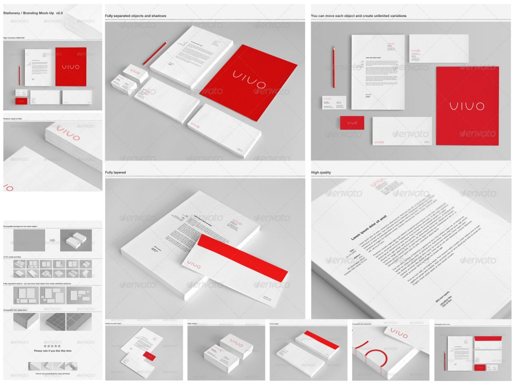 graphicriver corporate letterhead business cards pencil stationery branding psd mockups