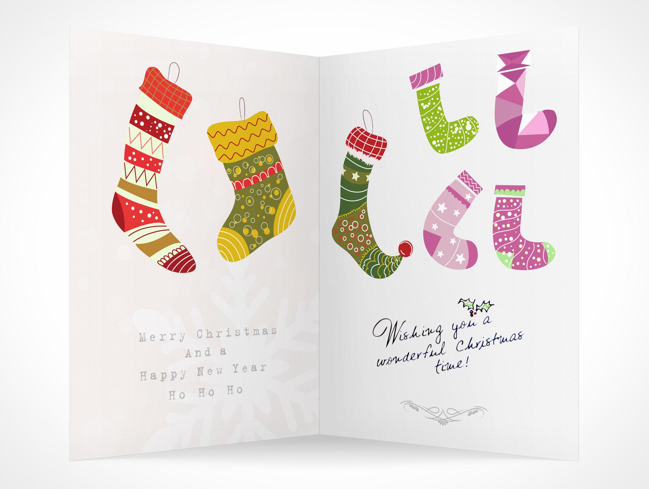 blank holiday christmas greeting card mockups