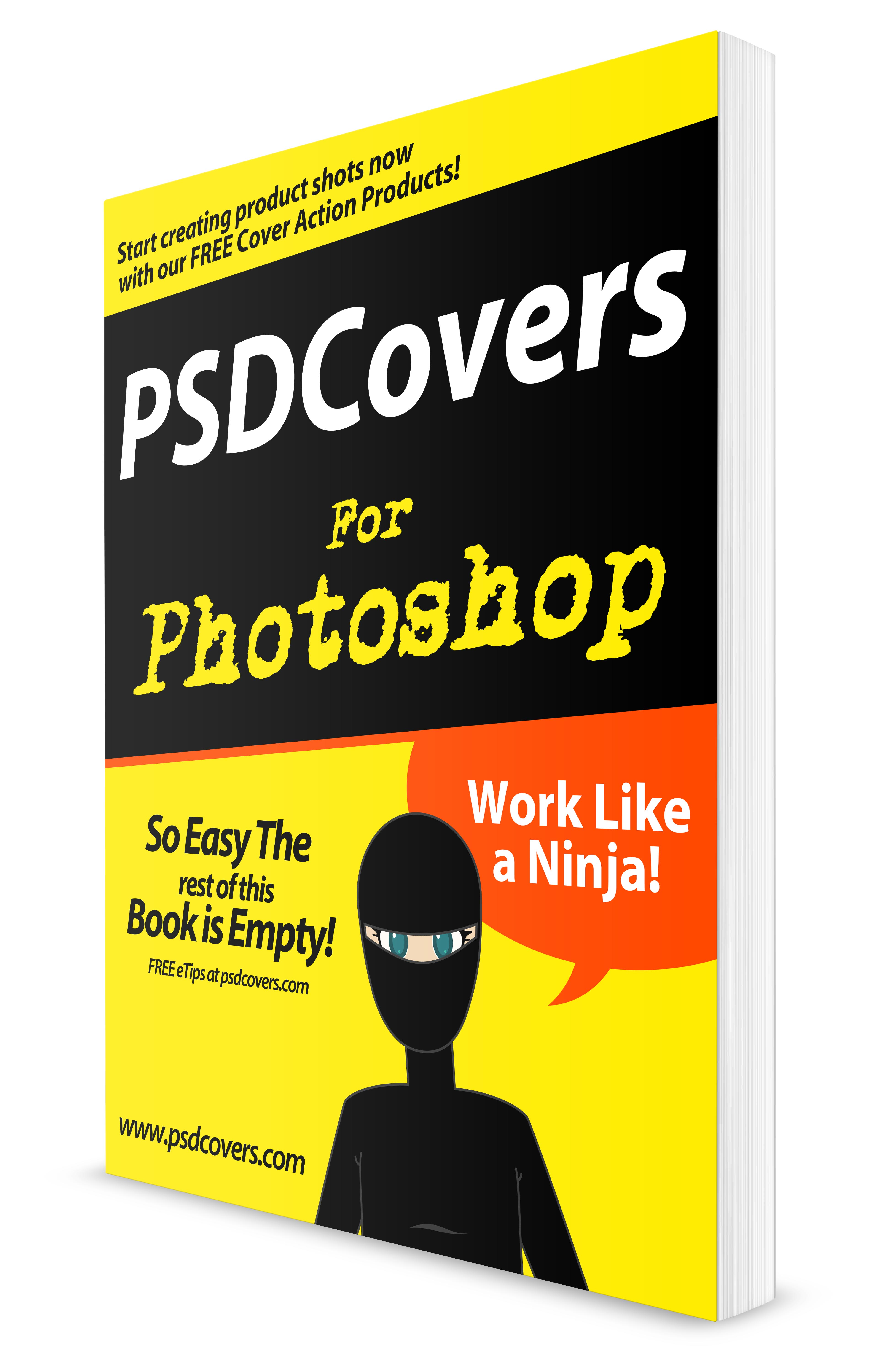 photoshop dummies manual documentation psd mockup template