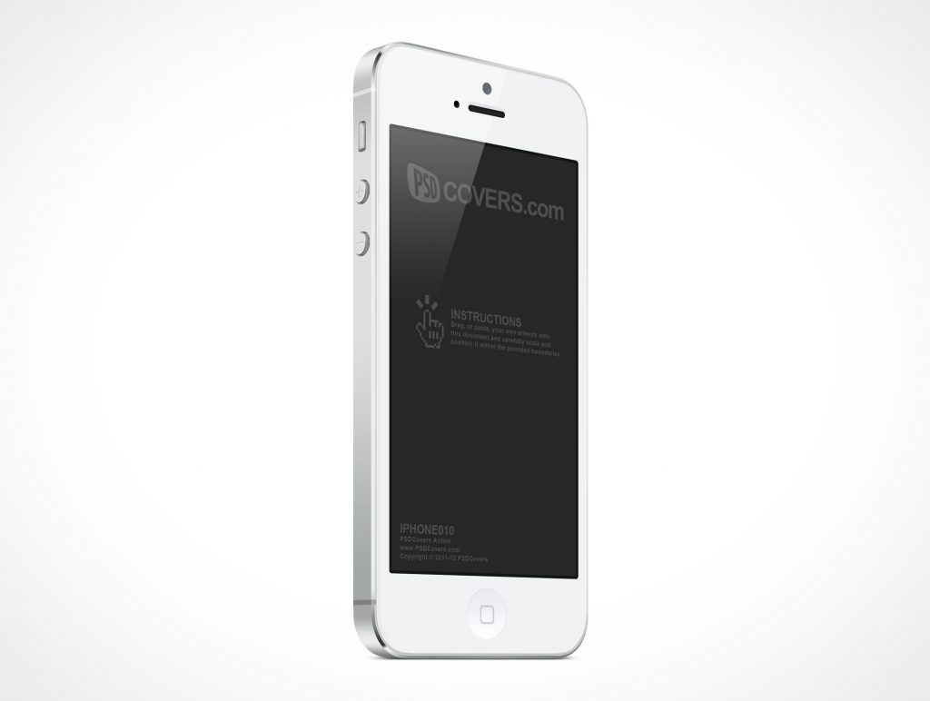 Apple iPhone 5 PSD Mockup Cover Action