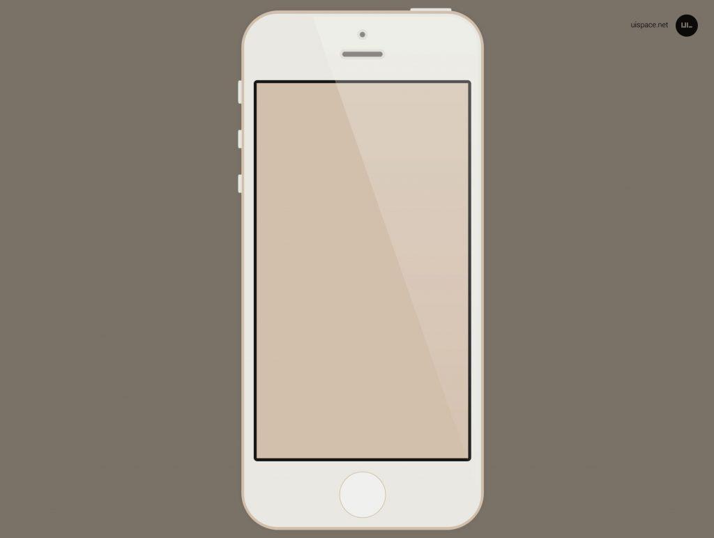 Flat Gold iPhone 5S PSD Mockup